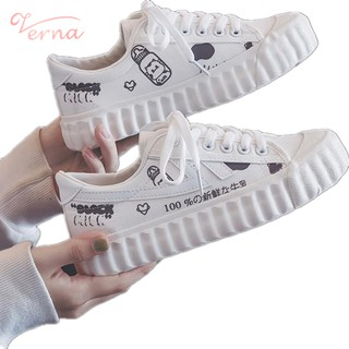 Verna Giày Thể Thao Vải Bạt Thời Trang Hàn Quốc Cho Nữ