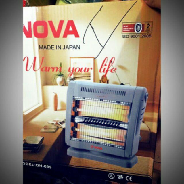 Quạt sưởi ấm Nova FG 10A 2 bóng Halogen.