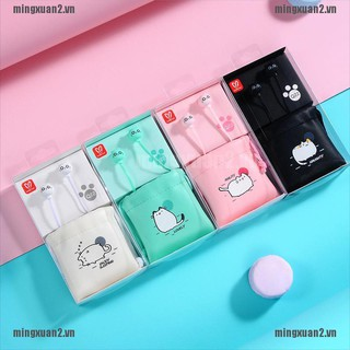 MINXT Cute Cat Wired Earphone Stereo Earbuds Kid Gift Phone Headset with Earphone Case VN