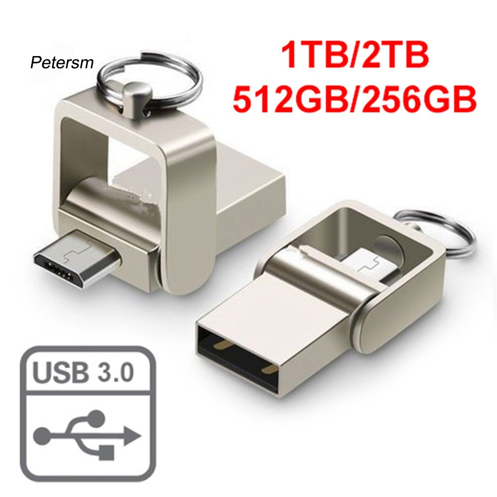 PST_Swivel 1/2TB 256/512G Micro USB 3.0 Flash Drive Memory Thumb Stick OTG U Disk