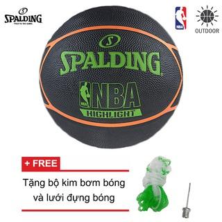 Bóng rổ Spalding NBA Neon Highlight Series Outdoor Size 7 Tặng bộ kim bơm bóng và lưới đựng bóng