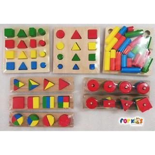 Bộ giáo cụ Montessori 8 món – mẫu 1