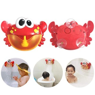 Baby Bath Toy Automatic Bubble Crab with 24 Pure Music