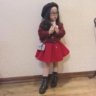 Chân váy dạ xoè cho bé gái