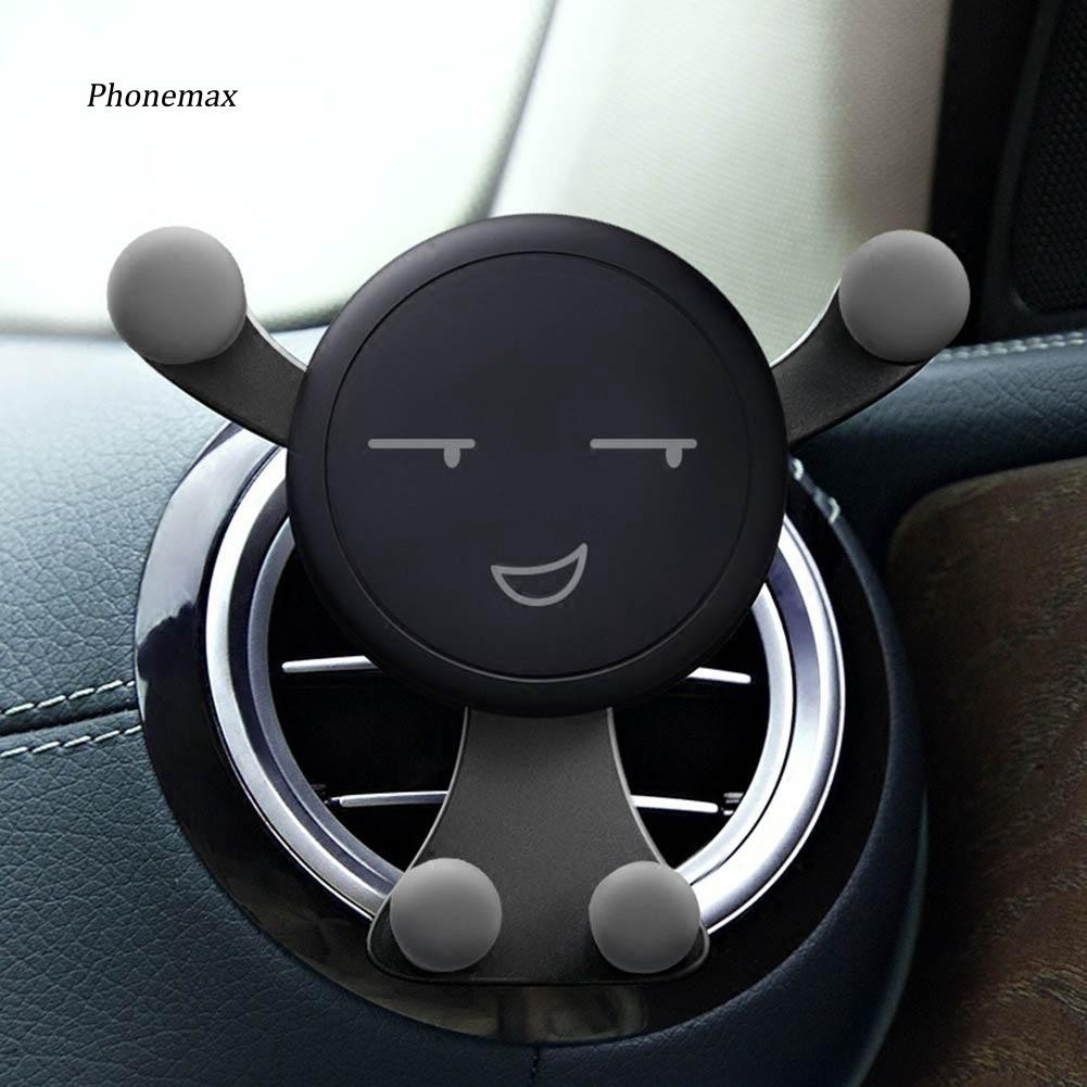 PNMX_Universal Smile Emoticon Air Vent Clip Car Phone Holder Bracket Vehicle Supplies