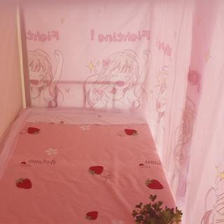 ∋✼Màn cửa có khung và chống muỗi tích hợp giường tầng công chúa gió cho ký túc xá phổ thông che nắng