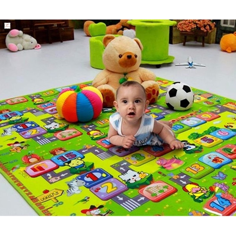 Thảm chơi 2 mặt cho bé Maboshi kích thước 1m8 x 2m. chất liệu cao cấp SALE ALL