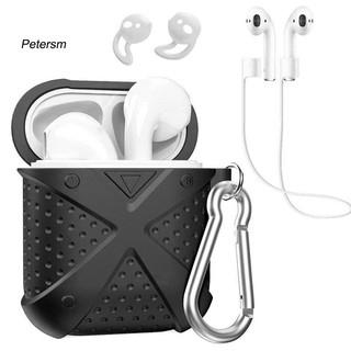 Vỏ silicone bảo vệ hộp đựng tai nghe Airpods 1/2 kèm phụ kiện