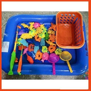 (Quá Rẻ) Sản Phẩm Bộ đồ chơi câu cá cho bé kèm bể phao
