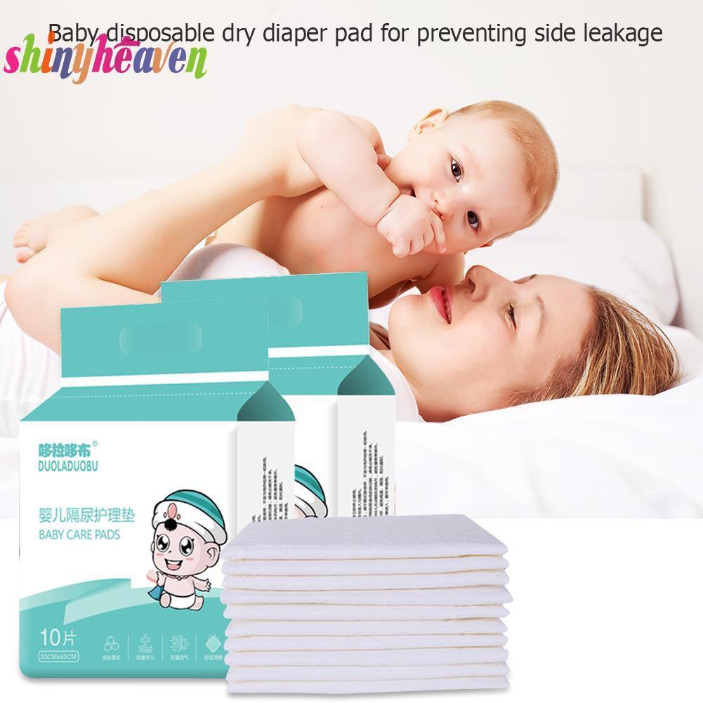 【Yuiiki】10pcs Children Waterproof Lovely Disposable Diaper Changing Mat
