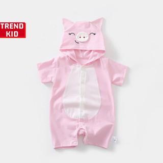 [Mã TREND20 giảm 15% đơn 99K] Bodysuit hình thú cho trẻ sơ sinh hình Heo hồng Michley