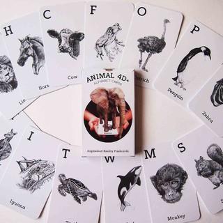 Combo 31 thẻ tiếng Anh hình động vật 4D để bé vừa học vừa chơi thumbnail