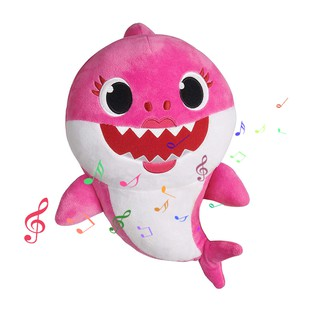 Shark Plush Doll with Music Songs Cute Soft Toy for Baby Children