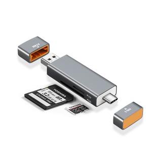 [Mã ELFLASH5 giảm 20K đơn 50K] Đầu đọc thẻ nhớ SD/TF kết nối USB Type c và USB 3.0 vỏ nhôm cao cấp