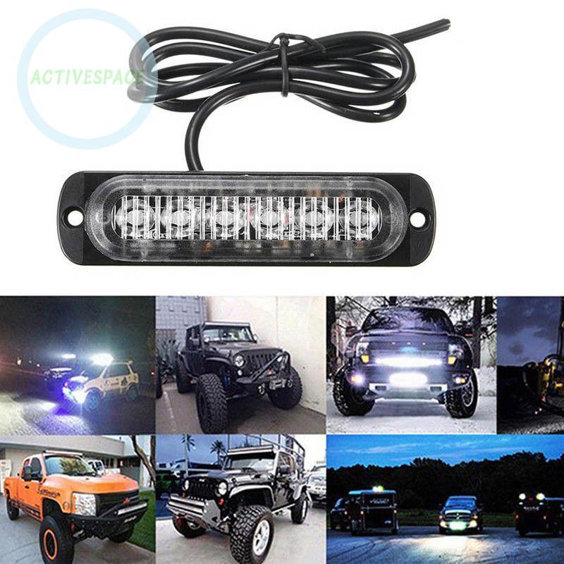 Bộ đèn LED khẩn cấp 6 bóng DC 12V-24V chuyên dụng cho xe hơi SUV ATV UTV