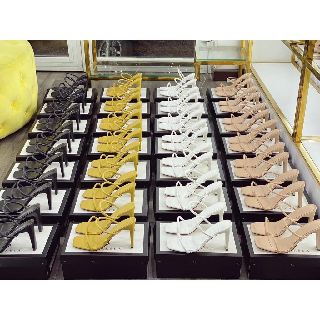 Guốc Sandall cao gót nữ quai mảnh siêu xinh cao 9cm - B41