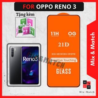 Kính Cường Lực Oppo Reno 3 – Siêu Mượt-Full màn cao cấp- Cảm ứng siêu nhạy-Không bám vân tay – Bảo hành 1 đổi 1