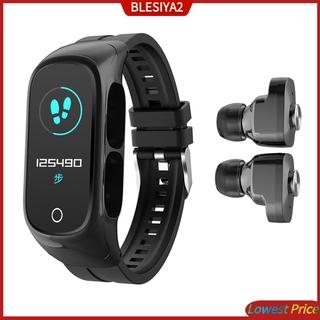 (Hàng Mới Về) Đồng Hồ Đeo Tay Thông Minh Kết Nối Bluetooth 2 Trong 1