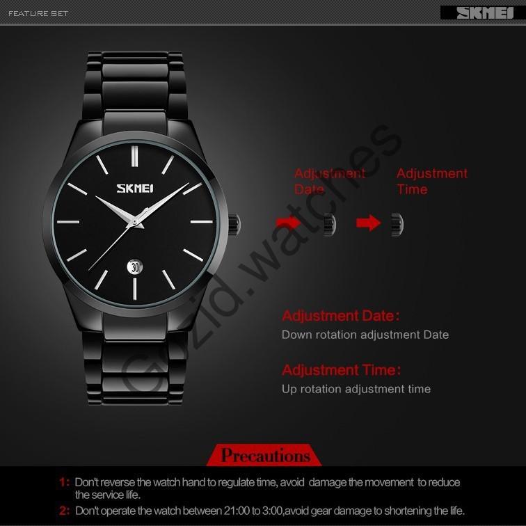 Đồng hồ nam thời trang classic tinh tế chống nước chống xước SKMEI SM11 -Gozid.watches