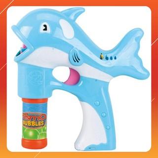 Súng bắn bong bóng hình cá heo vui nhộn LOẠI TỐT