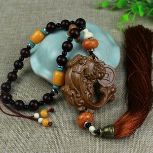 Walnut Car Pendant Lucky Fortune Bao Ping Auto Car Accessories