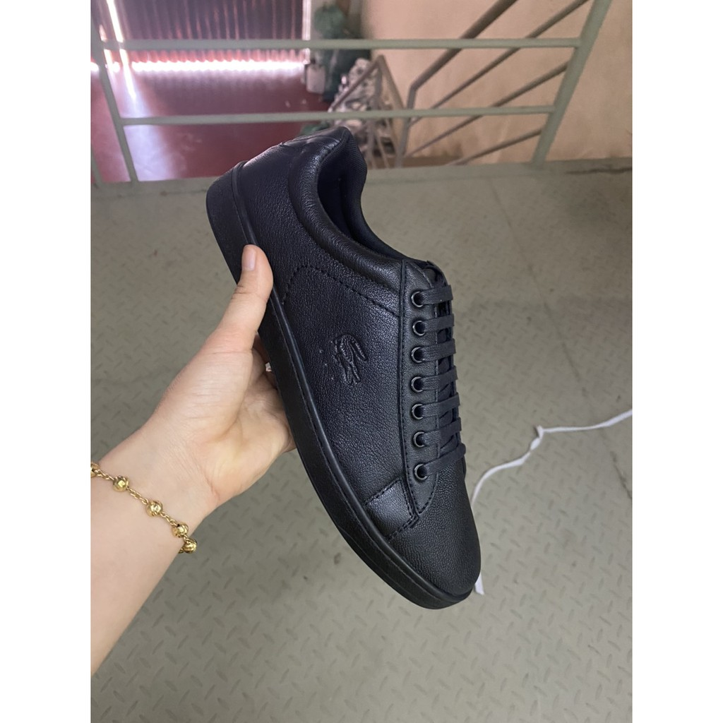(DA BÒ THẬT 100%) giày nam thể thao DA BÒ XỊN NGUYÊN KHỐI full đen siêu đẹp