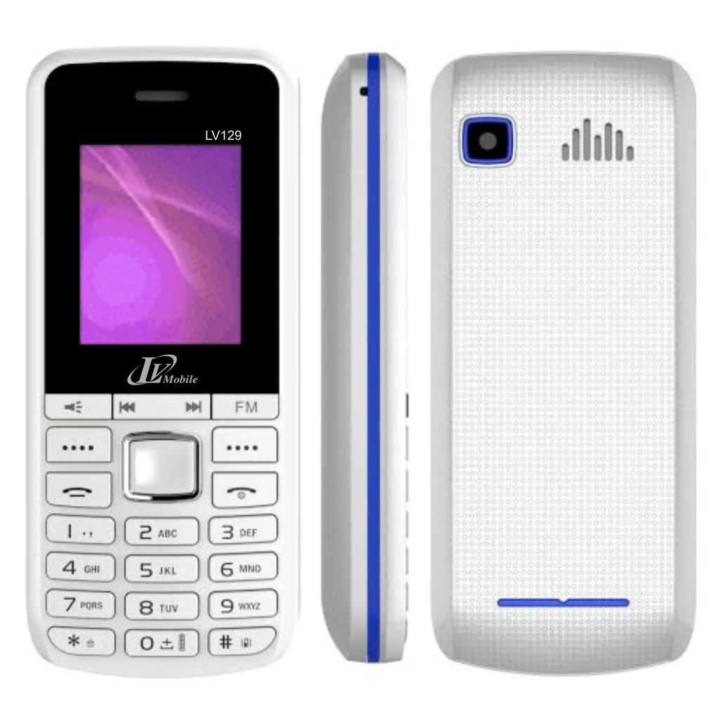 { 1 ĐỔI 1 TRONG 100 NGÀY } Điện thoại LV Mobile LV129 Pin Khủng - Hàng Chính Hãng - Bảo Hành 12 Thán
