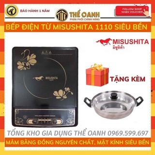 Bếp từ [FREESHIP] Bếp điện từ MISUSHITA 1110 bền, sôi nhanh - Tặng kèm nồi lẩu