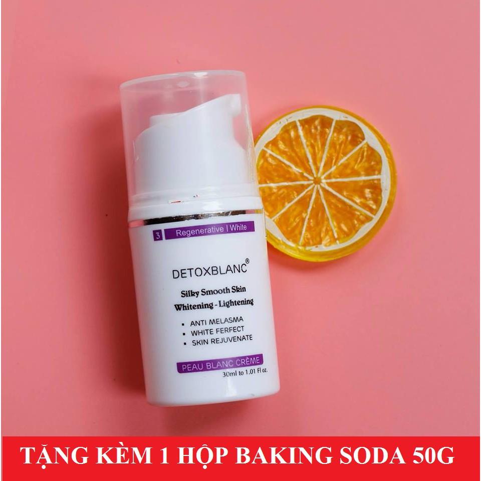 Kem dưỡng trắng da mặt ban đêm Detox BlanC 30ml + Tặng kèm 1 hộp Baking Soda tẩy trắng răng 50g - 3403741 , 987076189 , 322_987076189 , 390000 , Kem-duong-trang-da-mat-ban-dem-Detox-BlanC-30ml-Tang-kem-1-hop-Baking-Soda-tay-trang-rang-50g-322_987076189 , shopee.vn , Kem dưỡng trắng da mặt ban đêm Detox BlanC 30ml + Tặng kèm 1 hộp Baking Soda tẩy
