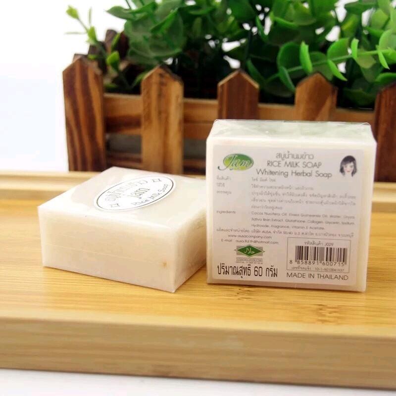 Xà Phòng Cám Gạo Thái Lan Jam Rice Milk Soap 50g