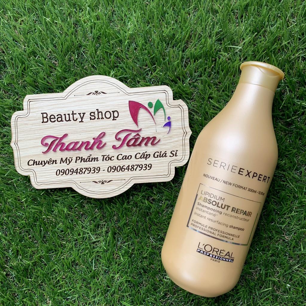 Dầu gội phục hồi 3 tác động Lipidium Absolut Repair L'oréal Shampoo 300ml