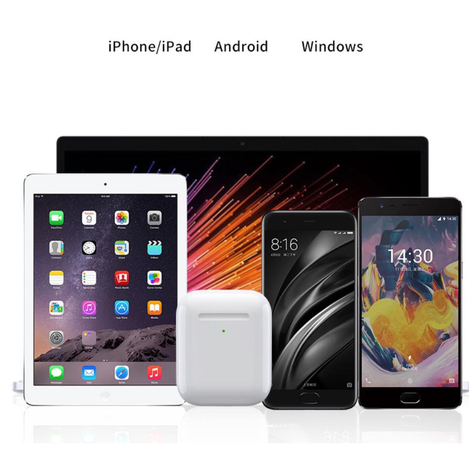 Tai Nghe Bluetooth i27 Pro TWS Sạc Không Dây Đổi Tên Định Vị Tháo Tai Dừng Nhạc Tương Thích IOS, Android
