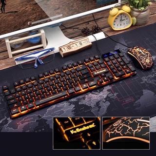 Bộ bàn phím kèm chuột máy tính Giả Cơ K-Snake có LED giá rẻ thumbnail