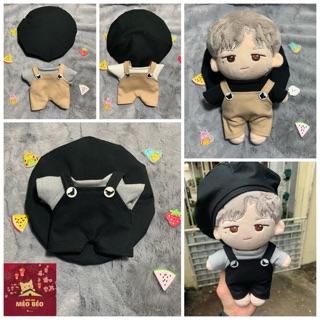 [Mã TOY5 giảm 10% đơn 50K] (Ord) outfit for doll – set áo yếm mũ cho doll 20 và 15cm
