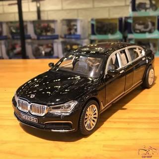 Xe mô hình ô tô siêu xe BMW 760Li hãng XLG tỉ lệ 1:24 màu đen hàng Quảng Châu