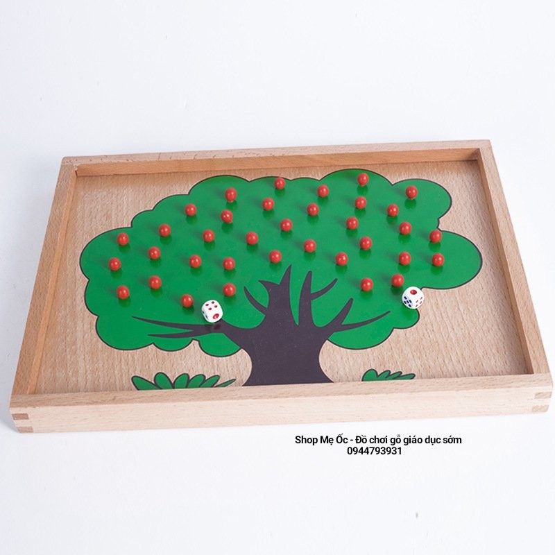Trò chơi hái táo - Giáo cụ dạy học cho bé