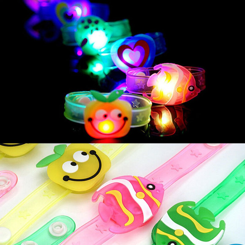 High Flash LED Light Glow Bracelet Kids Gift Costumes Birthday Party Favor Props dn