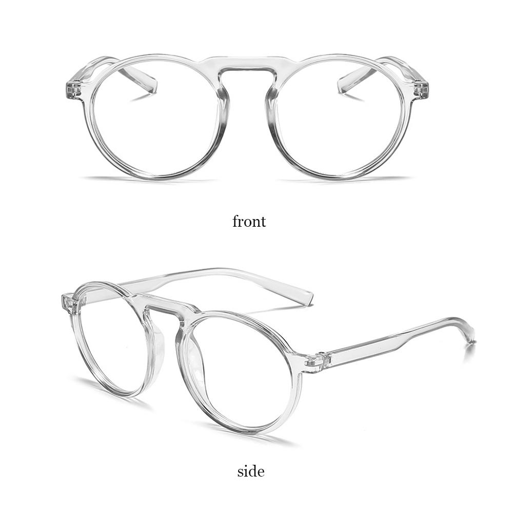 🍒QINJUE🍒 Radiation Protection Improve Comfort Ultralight PC Frame Transparent Round Frame Anti Blue Ray Glasses