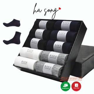 Hộp 10 Đôi Tất Chống Hôi Chân Cotton Sợi Tre Thoáng Mát-Ha Song Shop thumbnail