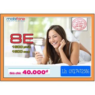 NẠP TIỀN SẴNG -SIM MOBIFONE gói 8E nhận ngay 1.500 phút gọi/sms miễn phí CHỈ 40K/THÁNG