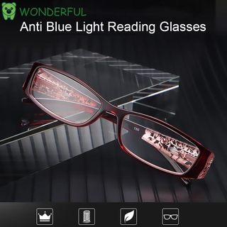 WONDERFUL Ultralight Anti Blue Light Reading Glasses Radiation Protection Computer Goggles Presbyopic Eyewear Vision Care Men Women Fashion Anti-blue Rays Retro Classic Printing Eyeglasses