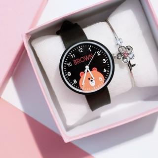 Đồng hồ thời trang trẻ em dây cao su Candycat PKHRCAT005 (Đường kính mặt: 36 mm)