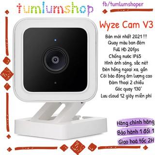 Wyze Cam V3 – Camera Full HD, Quay màu ban đêm, chống nước, dùng được ngoài trời – Bản mới nhất 2021