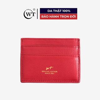 [Mã MABRL220 hoàn 15% đơn 99K tối đa 50K xu] Ví Đựng Thẻ Da Bò Cao Cấp Màu Đỏ Cam WT Leather 0950.0 thumbnail