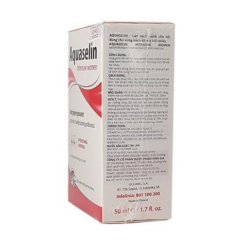 Aquaselin intensive women – Lăn nách nữ loại mạnh (mồ hôi nhiều)