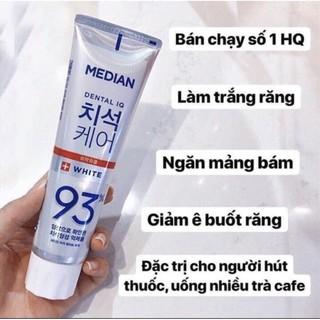 Kem đánh răng Median Hàn Quốc 93% làm trắng răng