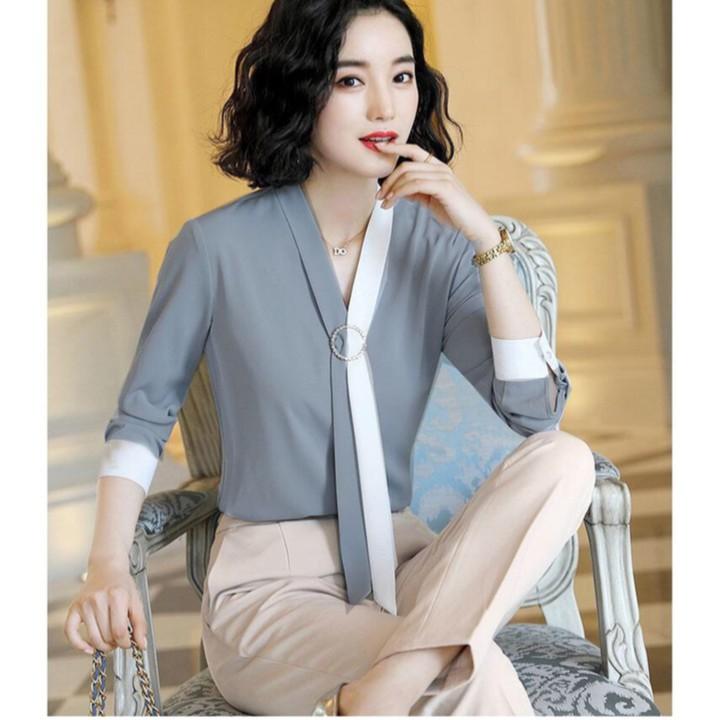 Mặc gì đẹp: Xinh xinh với Áo kiểu Rinzy phong cách sang chảnh - nhiều size, form dáng chuẩn dễ mặc đi làm, dự tiệc hoặc dạo phố
