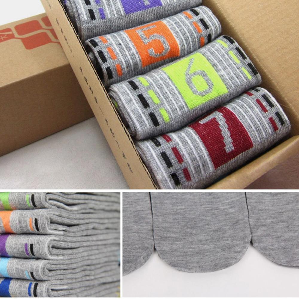 (Hàng Mới Về) Set 7 Đôi Vớ Cotton Thể Thao Thoải Mái Nhiều Màu Sắc