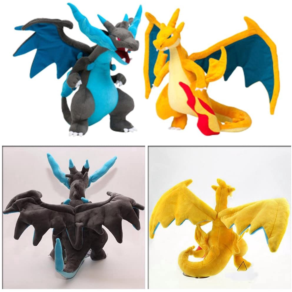 Mini Office Depot Fire Dragon Plush Stuffed Toy Cute Plush Charizard Soft Doll 9` (Blue)