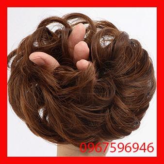 Búi rối tóc giả thời trang trung niên dầy đẹp